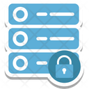 Server Lock Database Padlock Icon