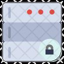 Server Lock Database Security Server Security Icon