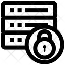 Server Locked Lock Network Security Icon