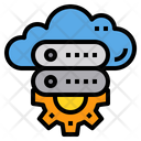 Cloud Data Server Cloud Computing Icon