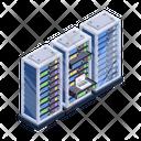 Server Technology Database Hosting Server Management Icon