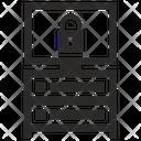 Server Monitor Lock Icon