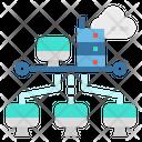 Network Computer Data Icon