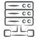 Server Network Database Network Datacenter Icon