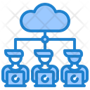 Worker Work From Home Server Icon