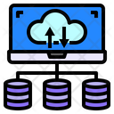 Cloud Computer Data Base Icon