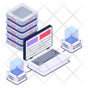System Servers Server Network Connected Server Icon