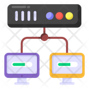 Client Server Server Network Sever Model Icon