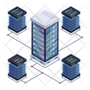 Server Network Server Room Data Network Icon