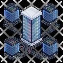 Server Network Server Room Data Network Icon