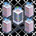 Server Network Technology Server Room Racks Database Network Icon