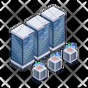 Data Network Data Hosting Server Network Technology Icon