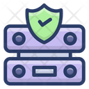 Server Protection Protection Datacenter Protection Data Server Safety Icon