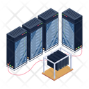 Server Room Database Servers Server Racks Icon