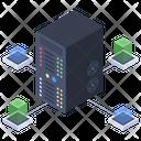 Server Room Data Center Database Icon