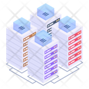 Client Server Connected Servers Server Room Icon