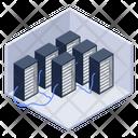 Server Room Data Centers Databank Icon