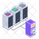 Client Server Connected Server Server Room Icon