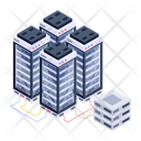 Server Network Server Room Data Bank Icon