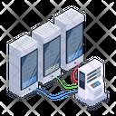 Server Network Server Room Data Bank Icon