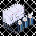 Server Network Server Room Racks Database Network Icon