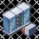 Server Network Server Room Racks Databases Icon