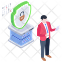 Server Lock Server Protection Server Security Icon