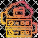 Storage Data Cloud Icon