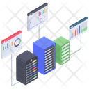 Server Statistics Server Analytics Server Analysis Icon