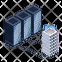 Server Technology Server Room Racks Database Network Icon