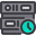 Time Clock Server Time Database Time Icon