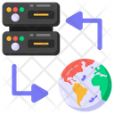 Global Data Server Server Transfer Global Sharing Icon