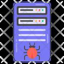 Server Bug Server Virus Infected Server Icon