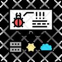 Virus Server Cloud Icon