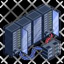 Server Room Servers Circuit Server Connection Icon
