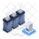 Server Room Database Servers Data Centers Icon