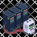 Server Room Data Bank Severs Monitoring Icon