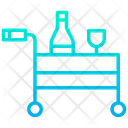 Room Service Food Trolley Waiter Icon