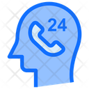 Service 24 Hours Call Icon
