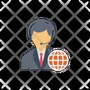 Interpreter Translation Global Icon