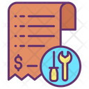 Service Invoice Service Bill Repair Invoice Icon