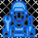 Man Repair Service Icon