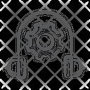 Service Management Headphones Setting Headphones Configuration Icon