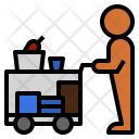 Serving Cart Service Icon