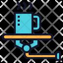Robotic Assistant Serve Icon
