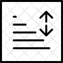 Set Line Spacing Icon