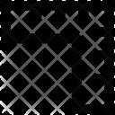 Set Square Carpenter Icon