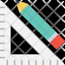 Set Square Pencil Icon