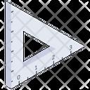 Geometric Ruler Geometric Measure Geometric Scale Icon