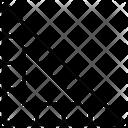 Geometry Ruler Set Square Icon